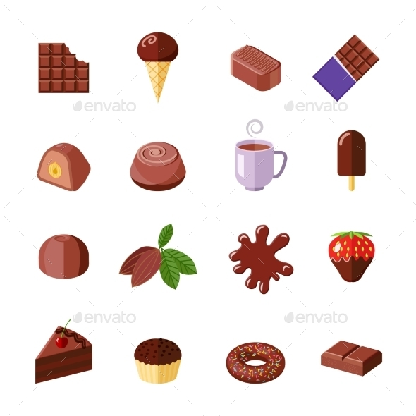 Chocolate Icons - Food Objects