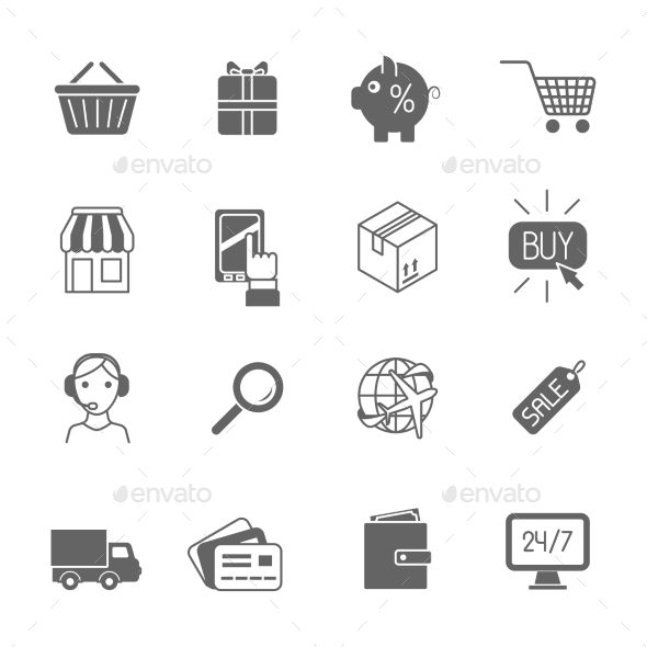 Shopping E-commerce Icons - Web Icons