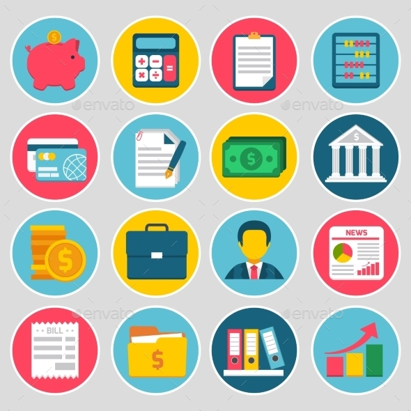 Accounting Icons Set - Business Icons