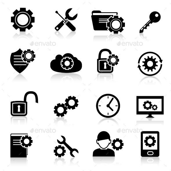 Settings Icons Black  - Computers Technology