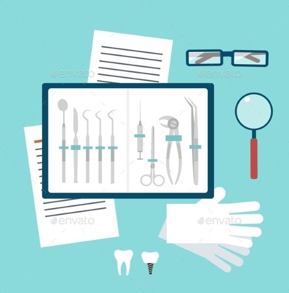 Toolset Dentist Illustration - Health/Medicine Conceptual