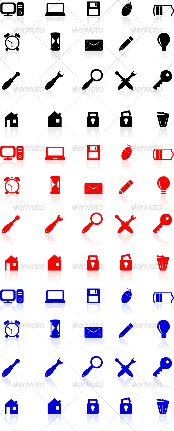 Computer Icons Set - Web Icons