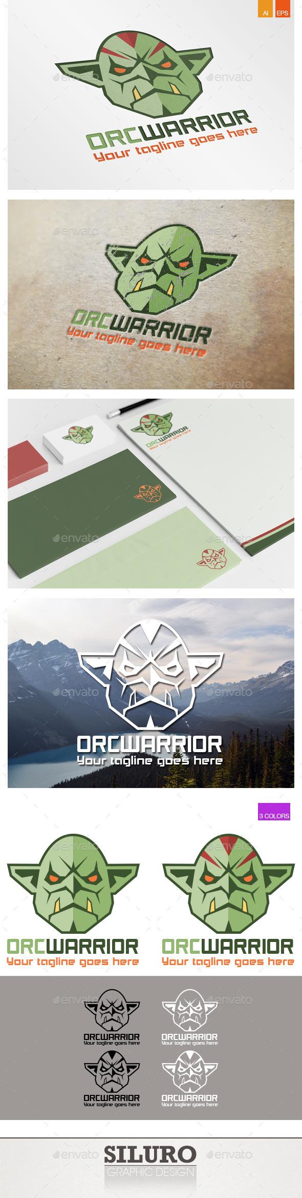 Orc Warrior Logo - Humans Logo Templates