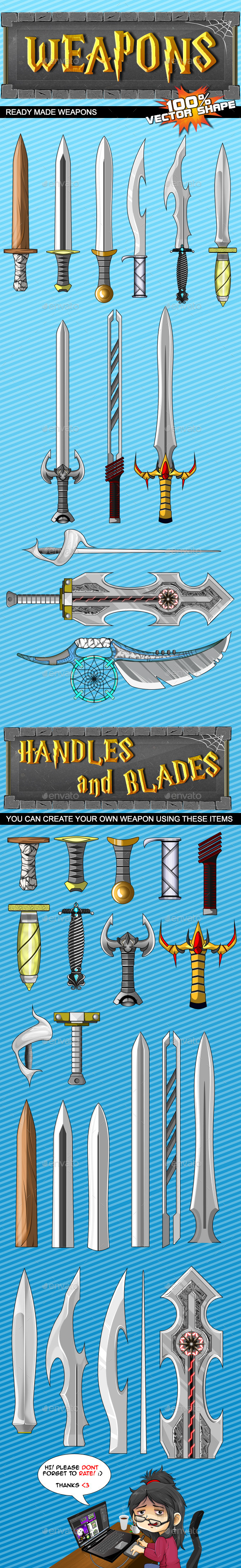 Game Weapons #1 - Miscellaneous Game Assets