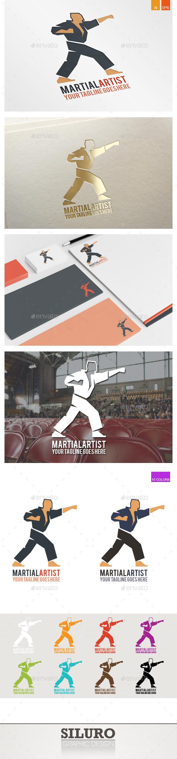 Martial Artist Logo - Humans Logo Templates