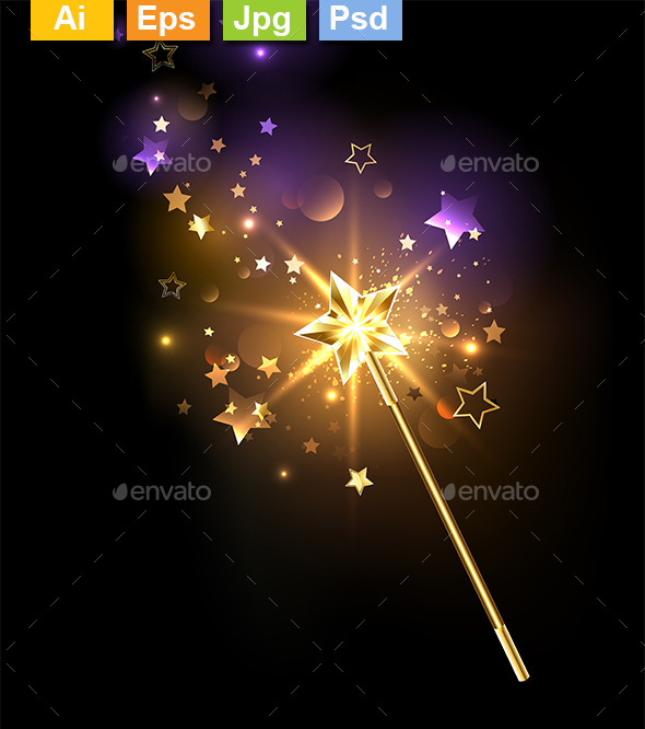 Golden Magic Wand - Miscellaneous Conceptual