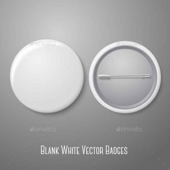 Blank Pin Badge - Man-made Objects Objects