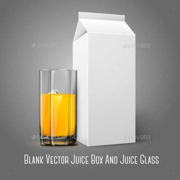 Blank Package with Juice Glass - Man-made Objects Objects