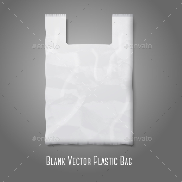 Blank Plastic Bag - Man-made Objects Objects