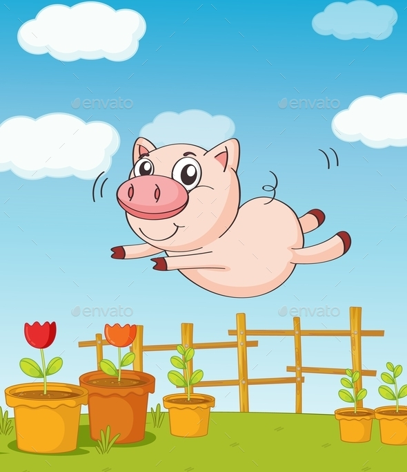 A Pig - Animals Characters