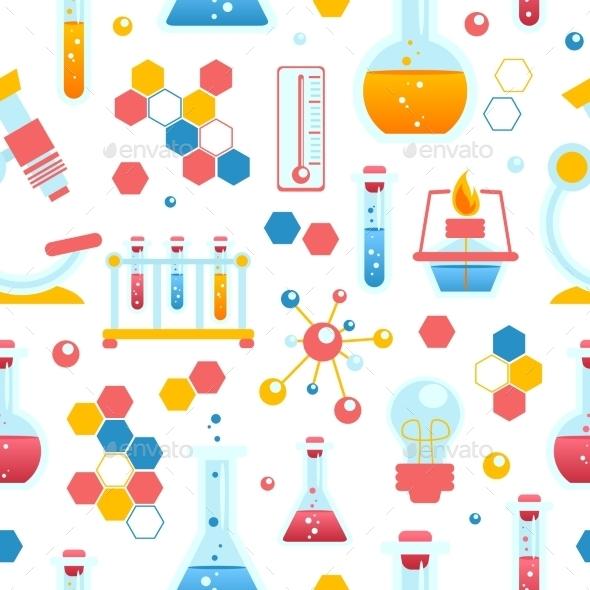 Chemistry Seamless Pattern - Backgrounds Decorative