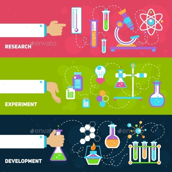 Chemistry Design Banners - Borders Decorative
