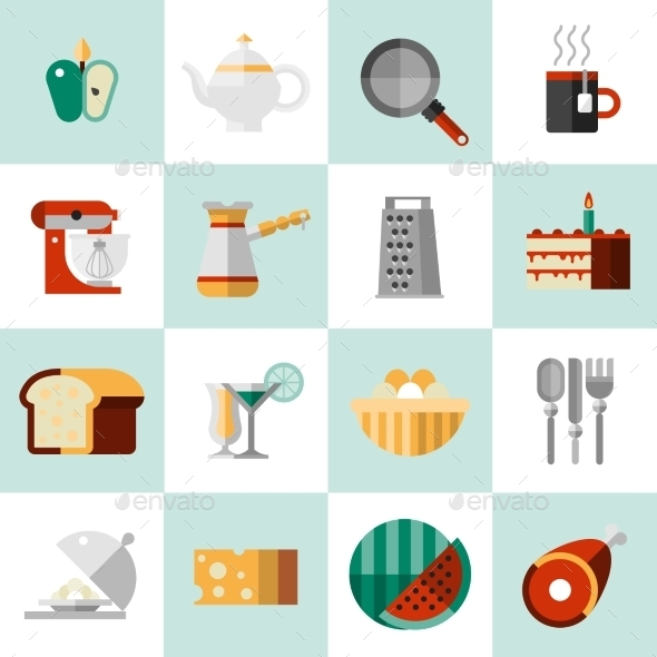 Cooking Food Icons - Food Objects