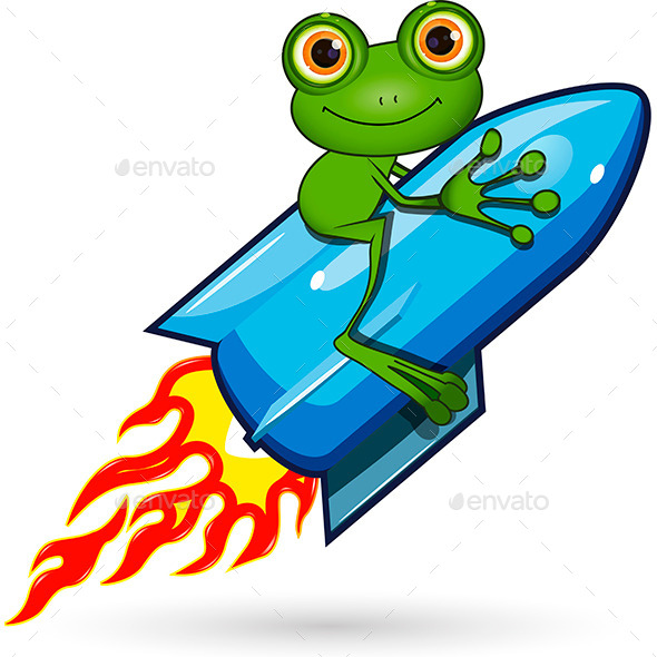 Frog on a Rocket - Animals Characters