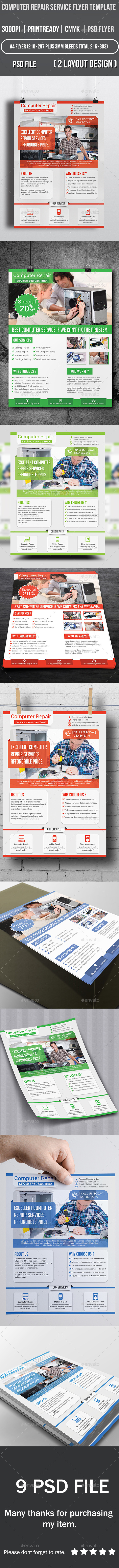 Computer Repair Service Flyer Template - Corporate Flyers