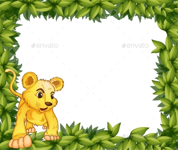 A Frame with an Animal - Animals Characters
