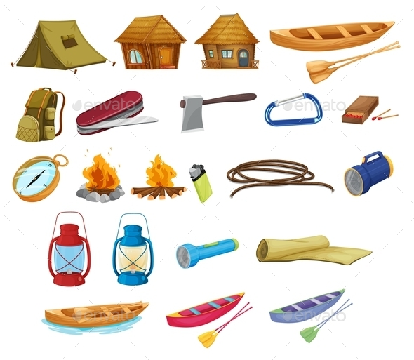 Camping Set - Man-made Objects Objects