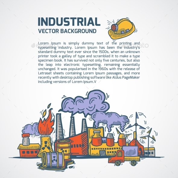 Industrial Sketch Background - Backgrounds Decorative