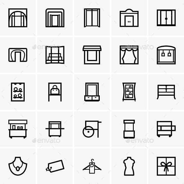 Shop Icons - Commercial / Shopping Conceptual