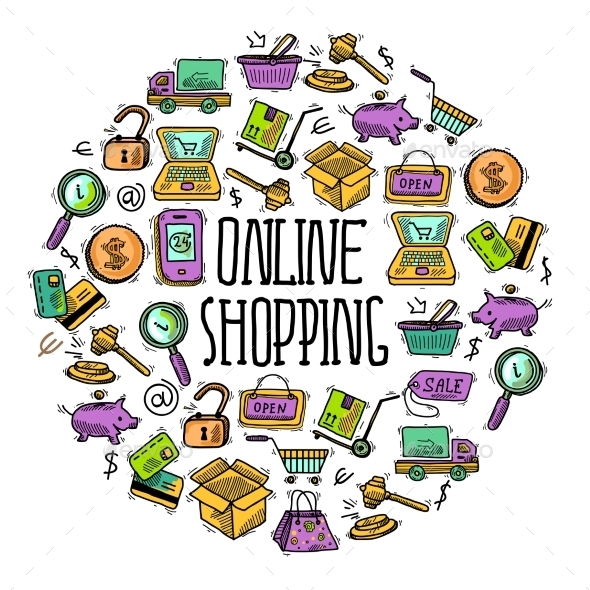 Online Shopping Circle - Retail Commercial / Shopping