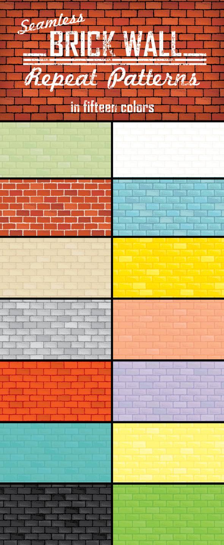 Brick Wall Repeat Patterns - Urban Textures / Fills / Patterns