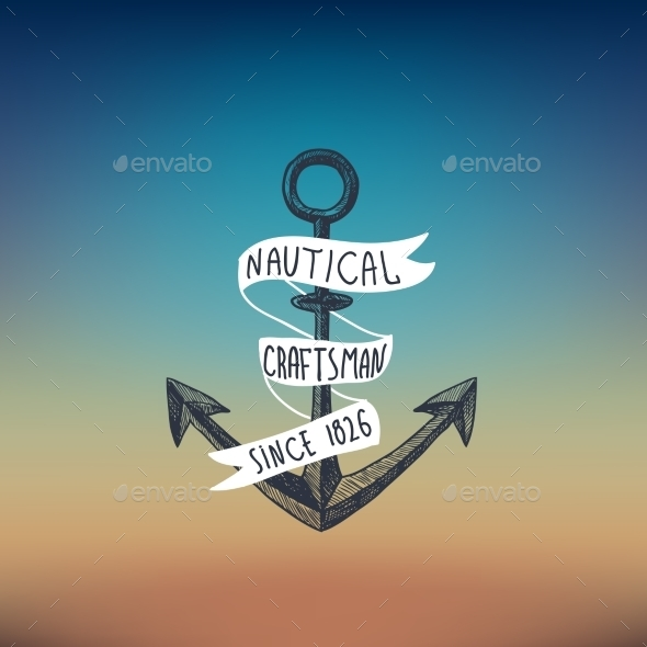 Anchor Sketch Background - Backgrounds Decorative