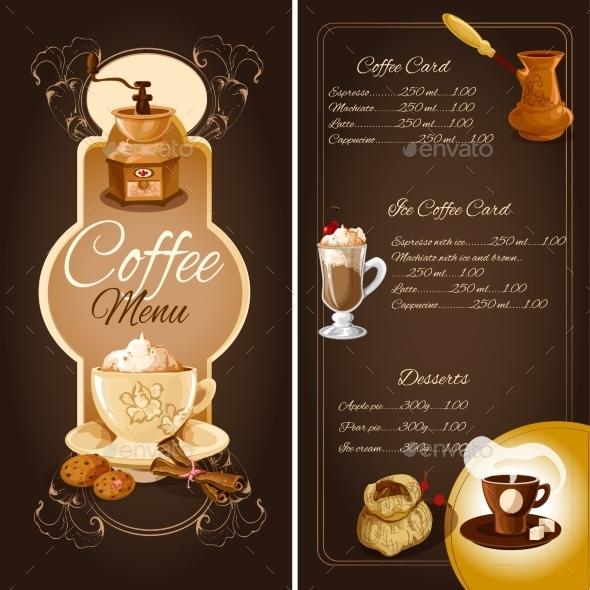 Coffee Cafe Menu - Food Objects
