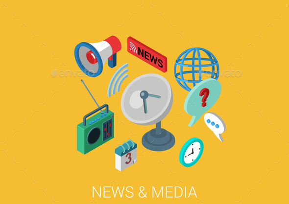 News and Media Concept - Media Technology
