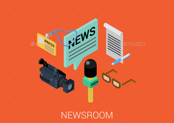 Newsroom Concept - Media Technology