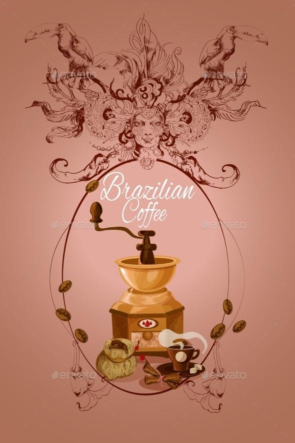 Brazilian Coffee Poster - Food Objects