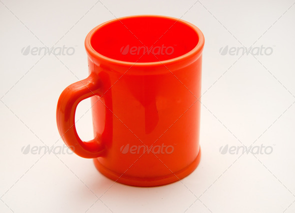 Orange cup - Stock Photo - Images