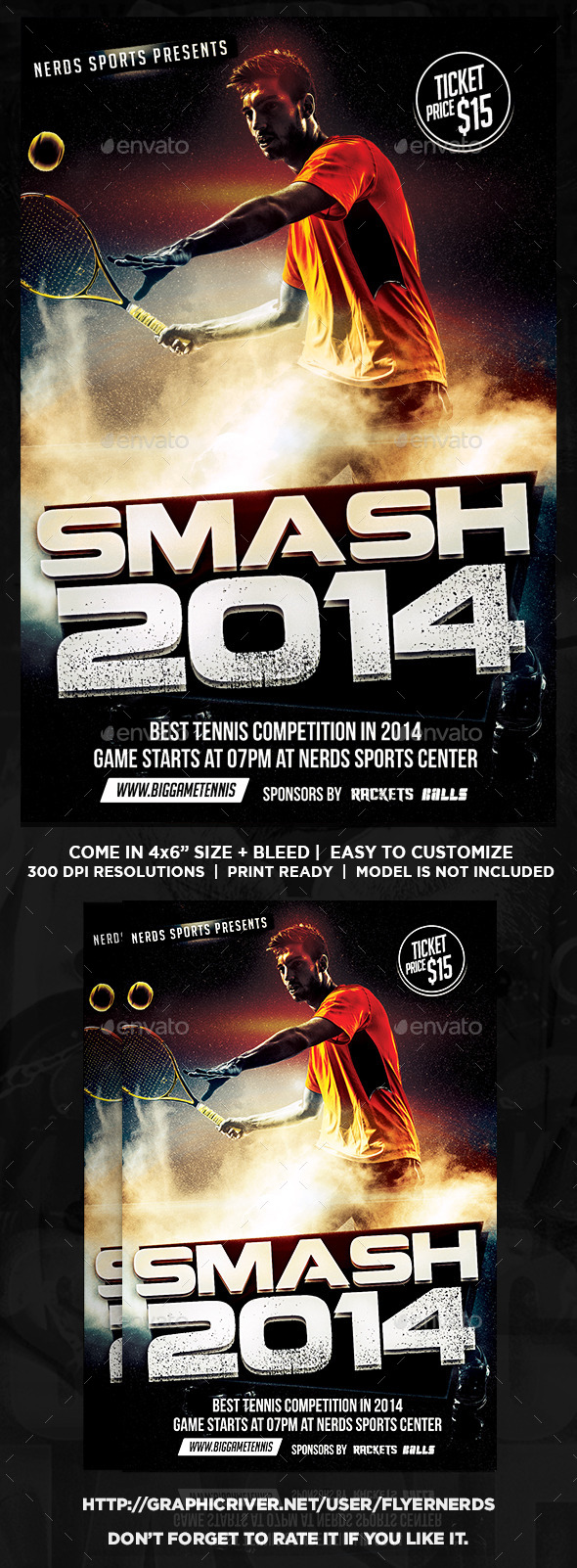 Smash Tennis Sport Flyer - Sports Events