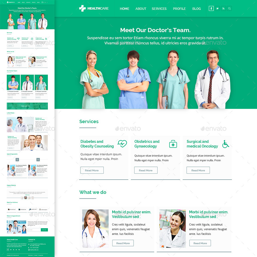 Healthcare | E-Newsletter PSD Template by kamleshyadav | GraphicRiver