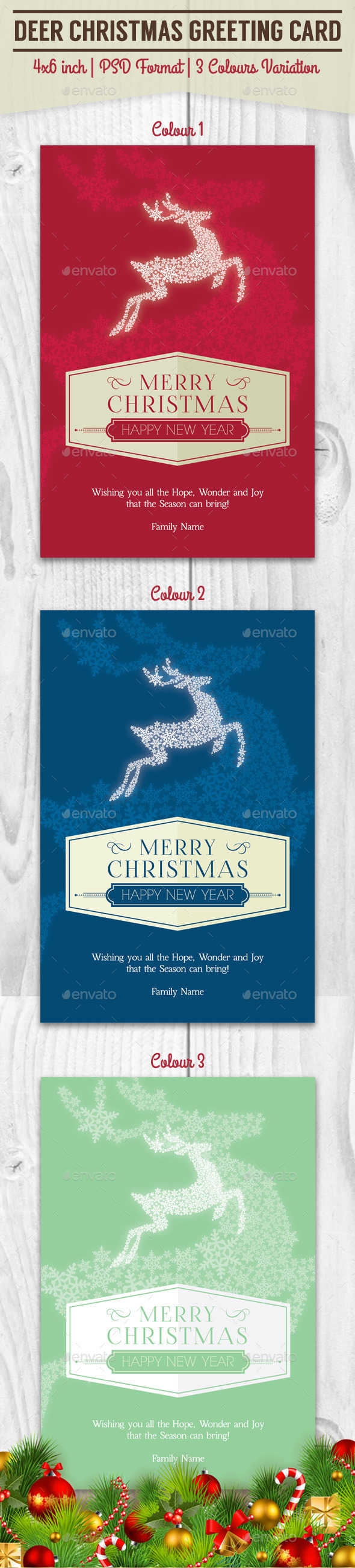 Deer Christmas Greeting Card - Greeting Cards Cards & Invites