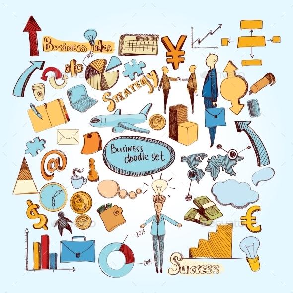Business Doodle Set - Business Conceptual
