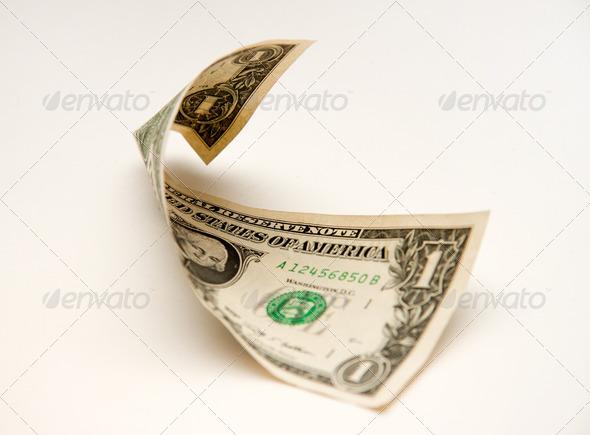 Folded dollar - Stock Photo - Images