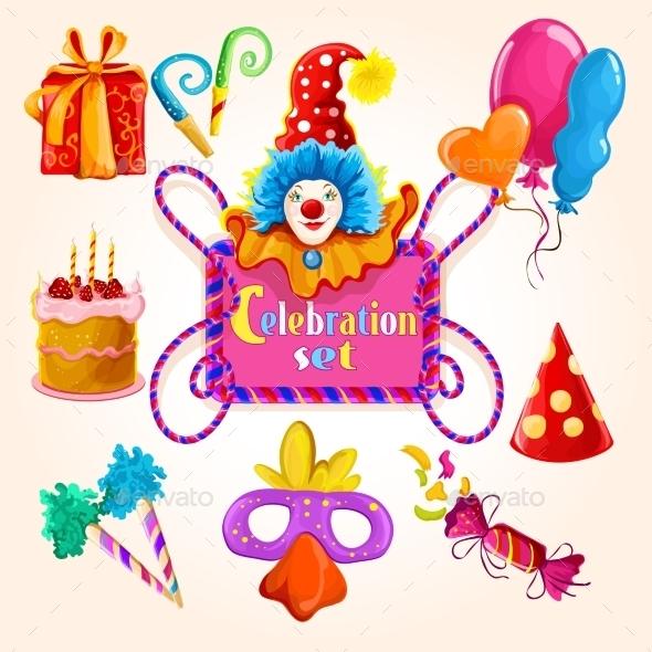 Celebration Set Colored - Birthdays Seasons/Holidays