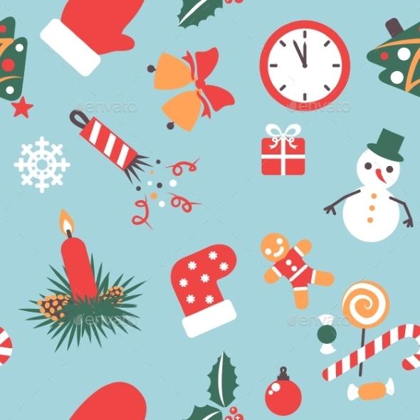 Seamless Pattern - Christmas Seasons/Holidays