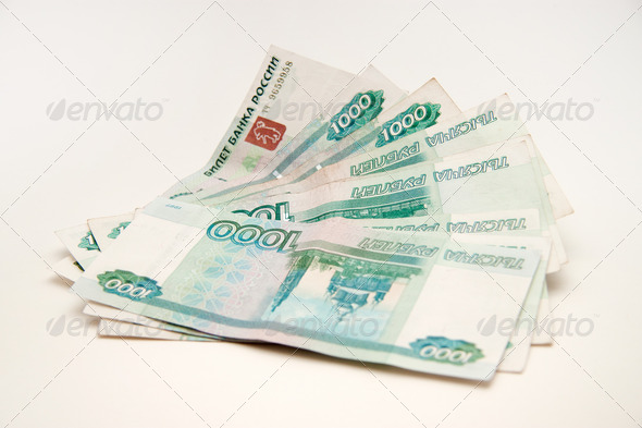 Russian roubles - Stock Photo - Images
