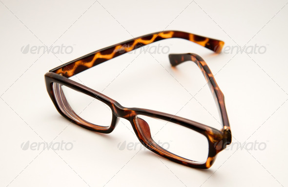 Thick-rimmed glasses - Stock Photo - Images