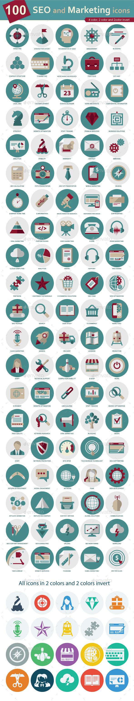 SEO and Marketing icons - Web Icons