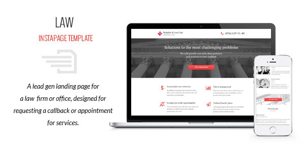 Law - Instapage Template - Instapage Marketing