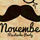 Movember Mustache Party Flyer - GraphicRiver Item for Sale