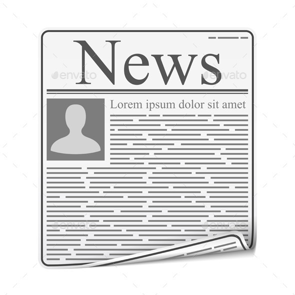 Newspaper - Objects Vectors