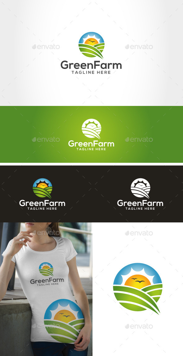 Green Farm - Nature Logo Templates