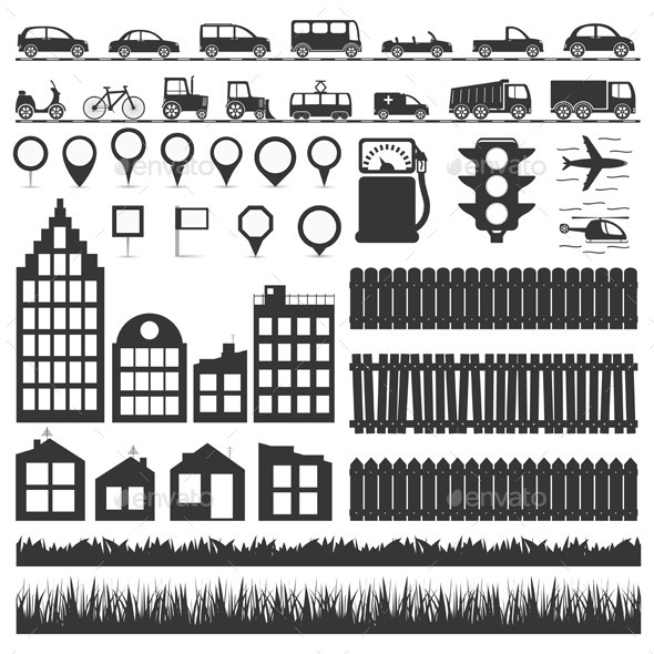 City Elements - Miscellaneous Vectors