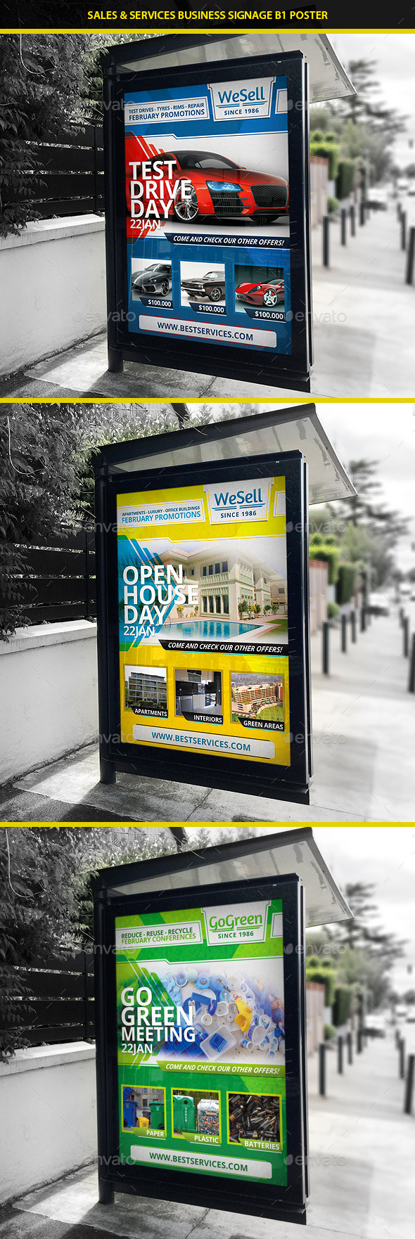 Sales & Services B1 Signage Poster - Signage Print Templates