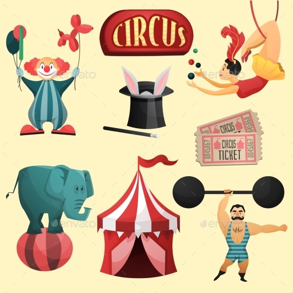 Circus Decorative Set - Decorative Vectors