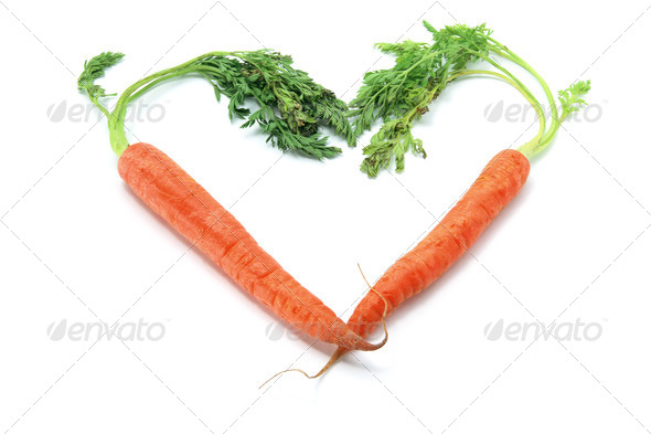 Carrots in Heart Shape - Stock Photo - Images