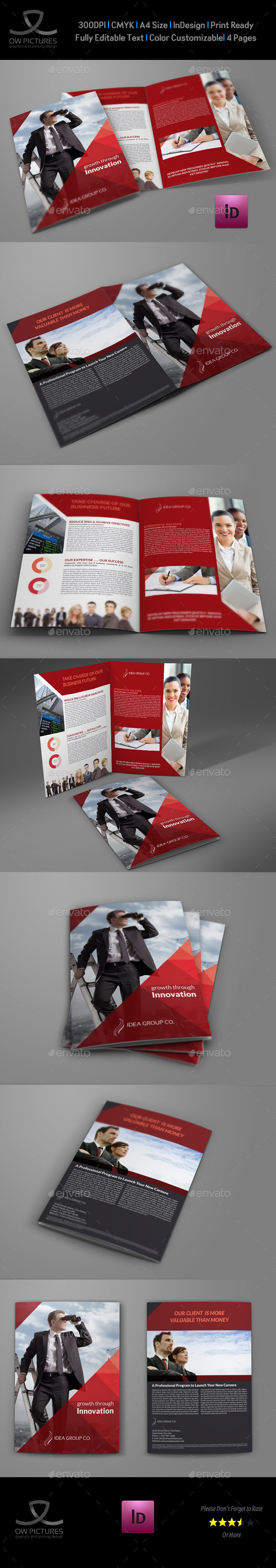 Company Brochure Bi-Fold Template Vol.37 - Corporate Brochures
